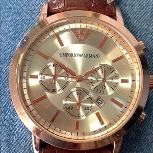 Emporio Armani rose gold chronograph Watch